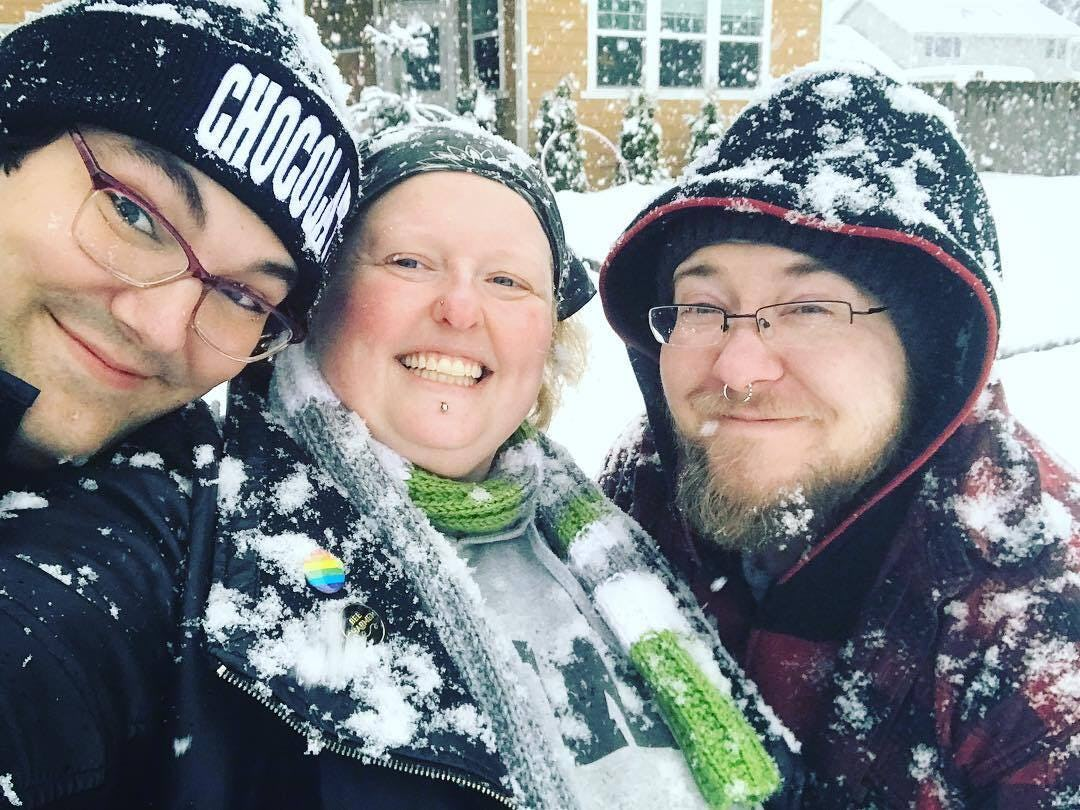 Family time in the snow!