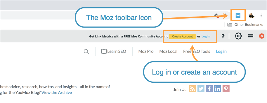 Guide to the Free Mozbar Chrome Extension - Help Hub - Moz