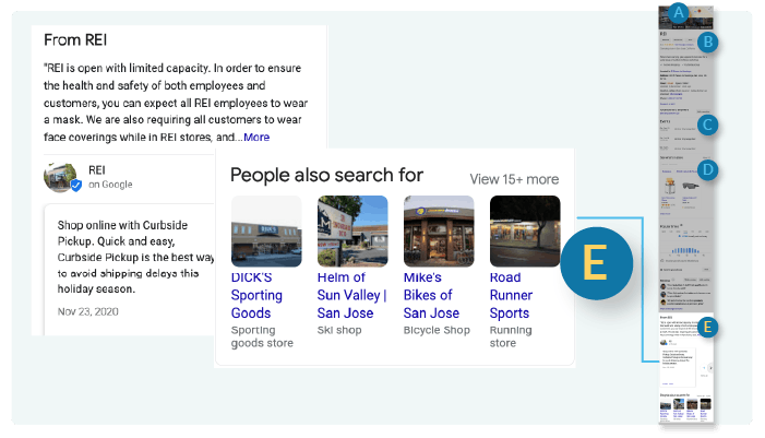 Section E of Google Business Profile