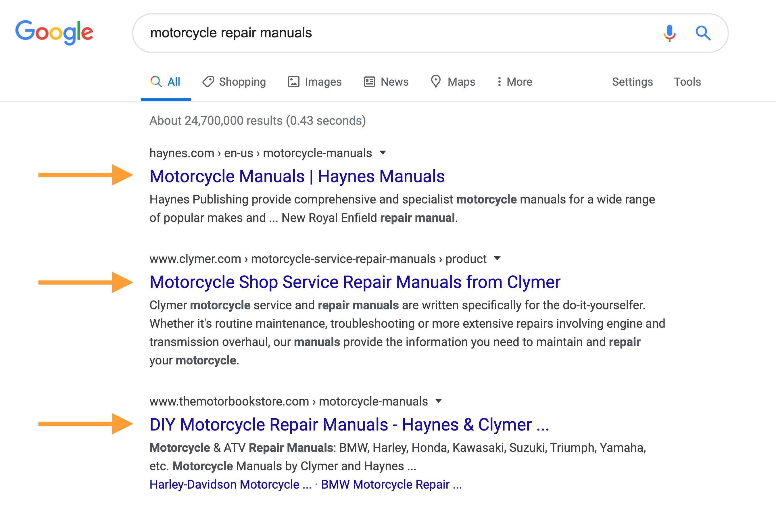 Seed keywords from Google SERPs