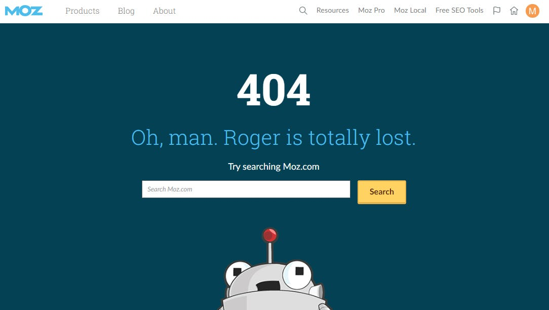Moz 404 page.